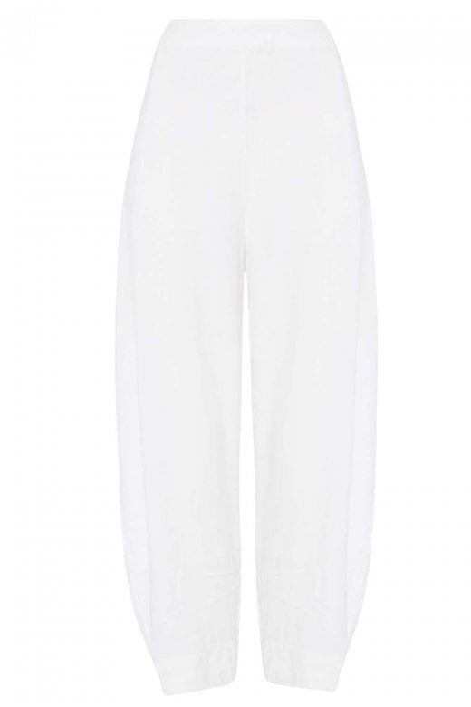 Sahara Clothing TEXTURED LINEN CROPPED TROUSER