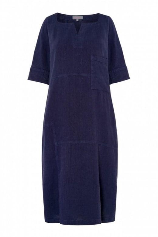 Sahara Clothing TEXTURED LINEN PANEL DRESS