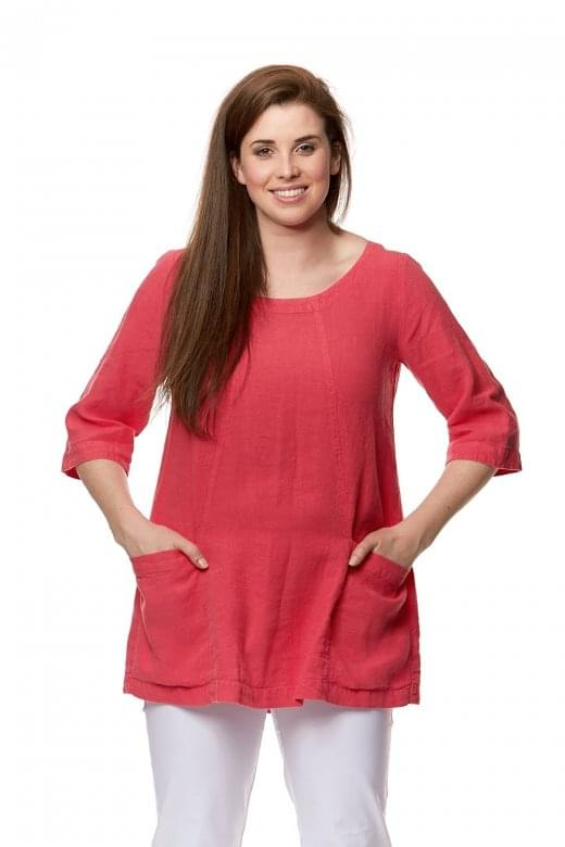 Sahara Clothing TEXTURED LINEN POCKET TUNIC