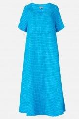 TWISTED WAFFLE LINEN DRESS