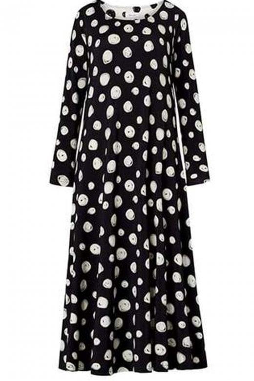 Sahara Clothing WATERCOLOUR SWIRL DRESS