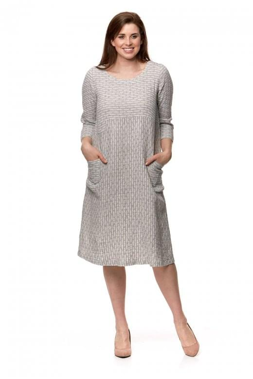 Sahara Clothing WEAVE LINEN PANEL DRESS
