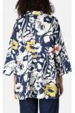 Sahara Clothing WILD FLOWER LINEN PRINT SHIRT