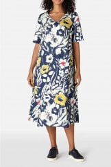 WILD FLOWER LINENE A-LINE DRESS