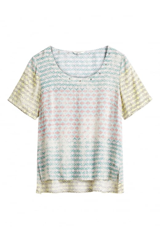 Sandwich Clothing WOVEN SHORT SLEEVE BLOUSE