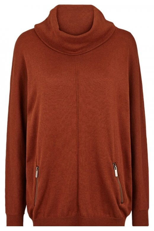 SOFT B LONG SLEEVE ROLL NECK PULLOVER