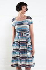STRIPED SHORT SLEEVE DRESS