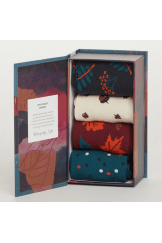 AUTUMN LEAVES BAMBOO SOCK BOX
