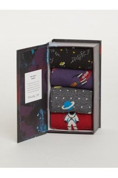 GALACTIC MENS BAMBOO SOCK BOX