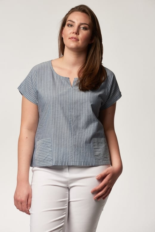 Two Danes SAPHIRE STRIPE DEE TOP