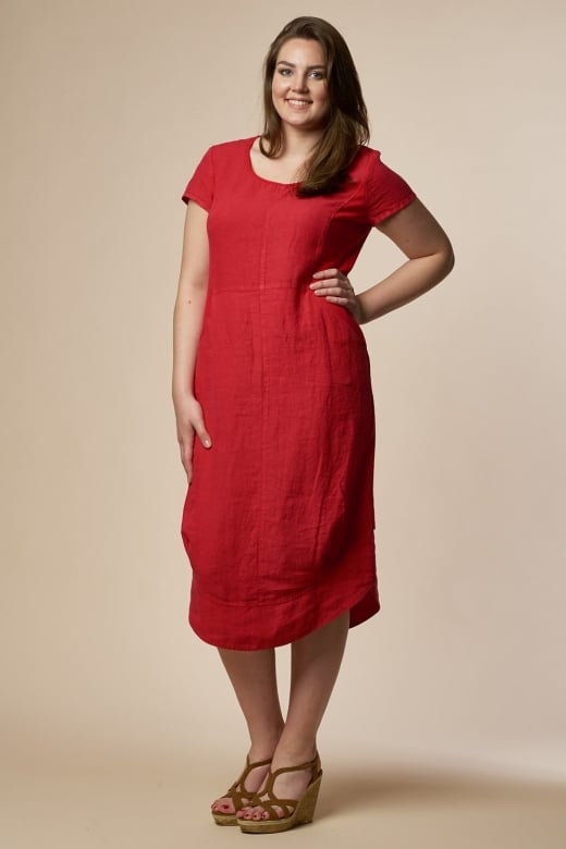 Vetono LINEN JERSEY DRESS