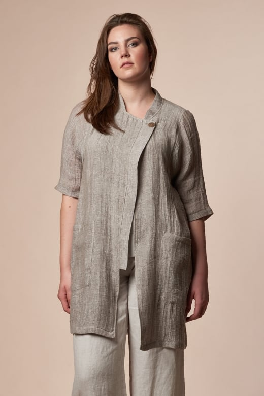 Vetono NATURAL WEAVE LONG COAT