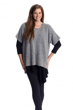 SEAMLESS SLEEVE KNIT TOP